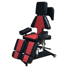 Кресло для тату салона Таурус цвет черно-красный