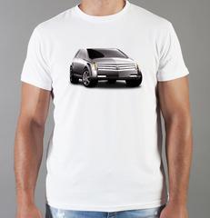 Футболка с принтом Кадиллак (Cadillac) белая 007