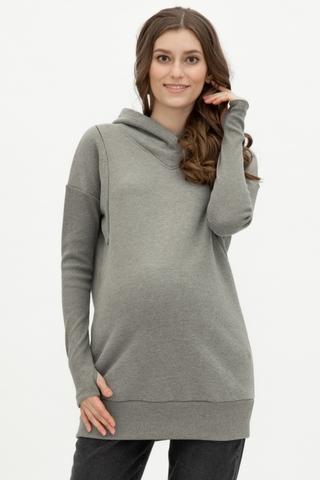 Утепленное худи для беременных и кормящих 10762 хаки
