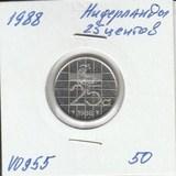 V0955 1988 Нидерланды 25 центов