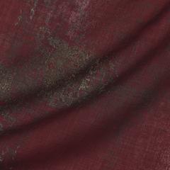 Тонкая шерстяная ткань красного цвета с печатью