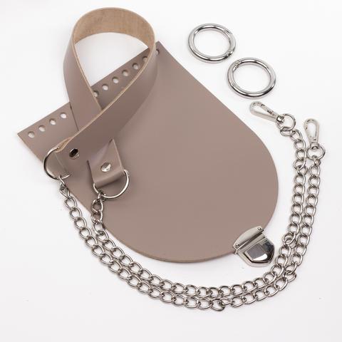 """Комплект для сумочки Орео """"Мускат"""". Ручка с цепочкой и замок """"200 мини"""""""