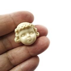 0040 Молд силиконовый. Лицо для куклы. Девочка в веночке