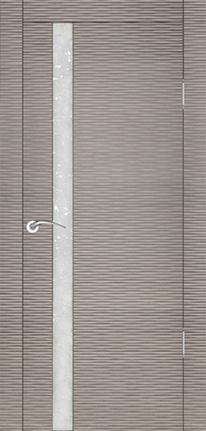 Дверь Прато Бриз (серый дуб, остекленная шпонированная), фабрика Ростра