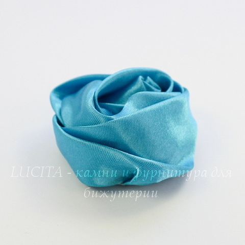 Роза атласная голубая 50 мм