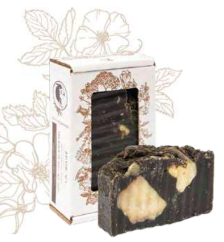 Мыло грязевое «Реликт жасмин». Сварено из растительных масел горячим способом, 110 ± 10 г