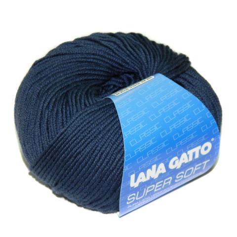 Пряжа Lana Gatto Supersoft 13607 темно-синий
