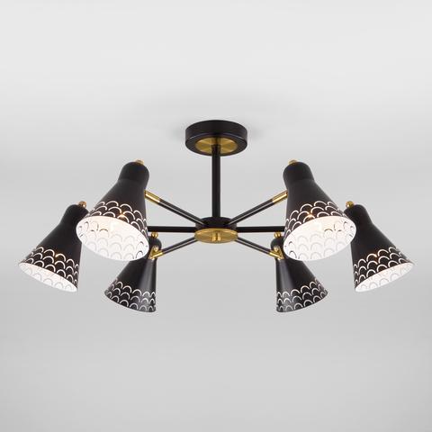 Потолочная люстра с поворотными рожками 70100/6 черный