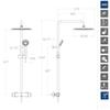 Душевая система с термостатом и тропическим душем для ванны BLAUTHERM 944801RP300 - фото №2