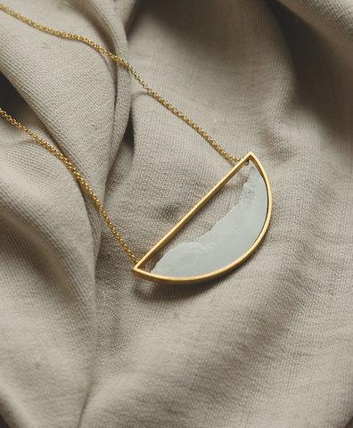 Колье SEMICIRCULAR GOLD WHITE
