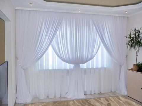 Комплект штор из вуали Клеопатра белый