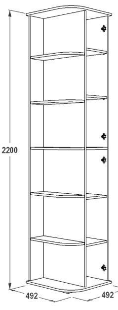Шкаф крайний Ольга 14