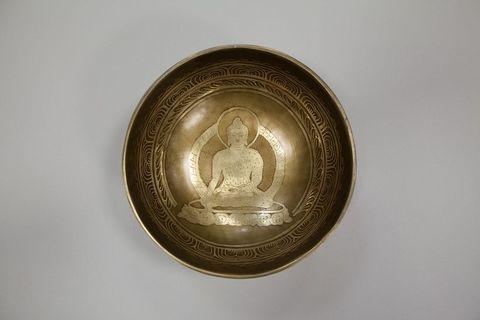 Кованая поющая чаша Будда