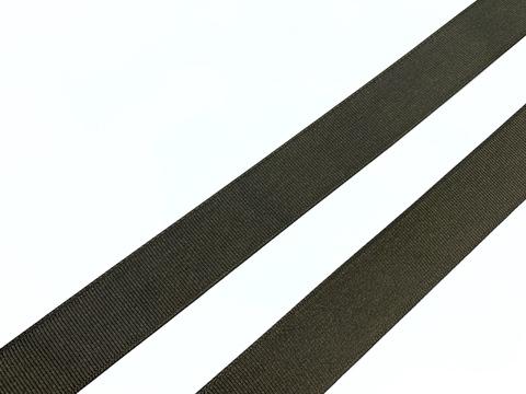Репсовая лента (сантюр) 25мм, темно-коричневая
