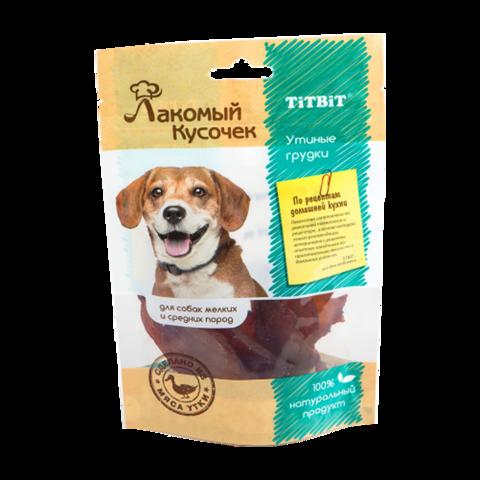 Titbit Лакомый кусочек Лакомство для собак утиные грудки