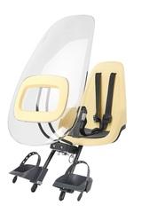 Переднее велокресло с ветровым стеклом Bobike ONE Lemon Sorbet