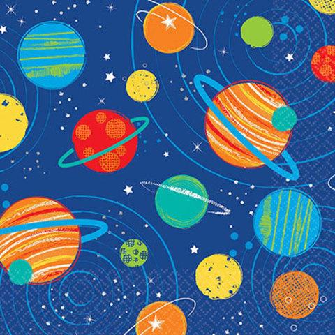 Салфетки малые Космос, 16 штук