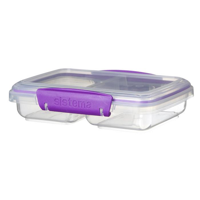 """Контейнер пищевой Sistema """"TO GO"""", двойной, 350 мл, цвет Фиолетовый"""