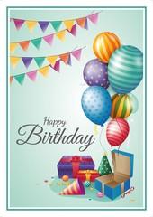 Açıqca\Открытки\Gift - Happy Birthday balloon