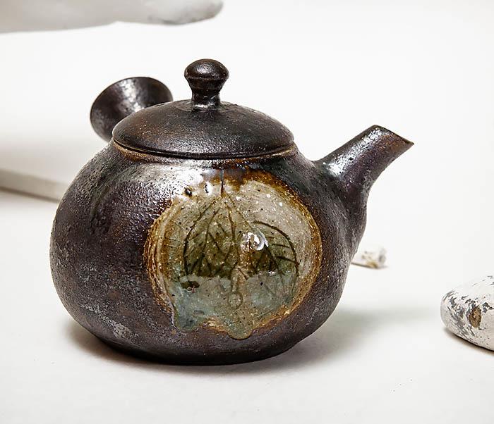 POT102 Чайник ручной работы в японском стиле («Kюсу») фото 02