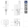 Встраиваемы смеситель для душа с душевым комплектом YPSILON PLUS K6418011 на 1 выход - фото №2