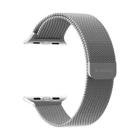 Ремешок из нержавеющей стали Deppa Band Mesh D-47147 для Apple Watch 44мм/ 42мм Серебристый