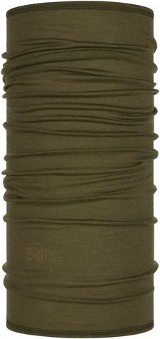 Тонкий шерстяной шарф-труба Buff Wool lightweight Solid Bark фото 1