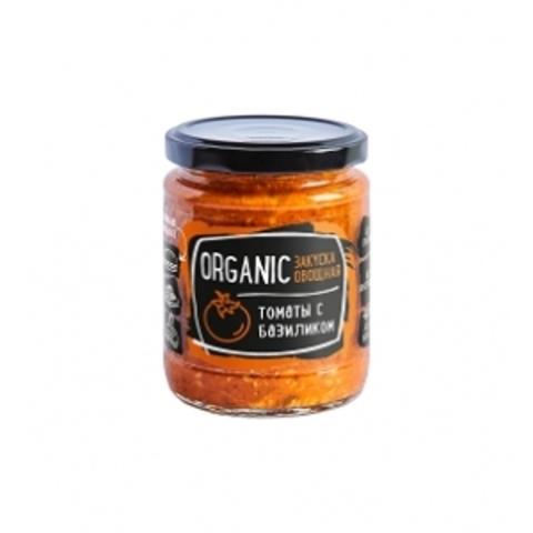 Закуска овощная Organic томаты с базиликом Rudolfs 235г