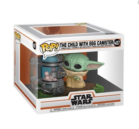 Funko Pop! Vinyl Figure || The Mandalorian The Child With Egg Canister (Baby Yoda)