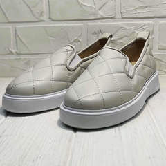 Женские слипоны туфли на платформе 2,5 см Alpino 21YA-Y2859 Cream.