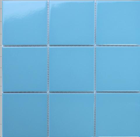 Керамическая мозаика AquaViva C3477 глянцевая голубая / 17400