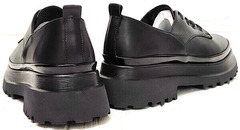 Кожаные туфли женские на платформе Marani magli M-237-06-18 Black.