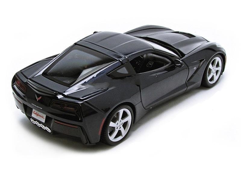 Коллекционная модель Chevrolet Corvette StinGrey Coupe 2014 Dark Blue Metallic