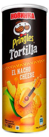 """Кукурузные Чипсы """"Pringles"""" Сыр Начо 160 г"""