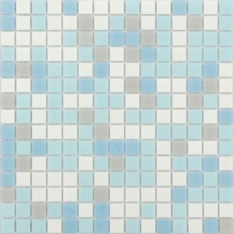 Мозаика LeeDo - Caramelle: Sabbia - Azzuro 32,7x32,7x0,4 см (чип 20x20x4 мм) - на бумажной основе