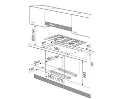 Варочная поверхность газовая Korting HG 640 CRN - схема