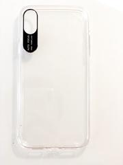 Чехол силиконовый с вставкой металл для iPhone 6/6s, X/Xs, XR