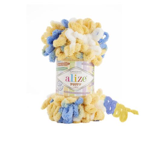 Купить Пряжа Alize Puffy Color Код цвета 6069 | Интернет-магазин пряжи «Пряха»