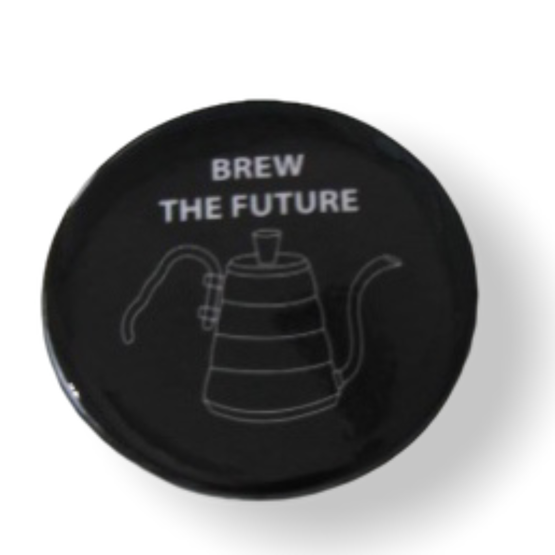 Значок Brew the future чайник