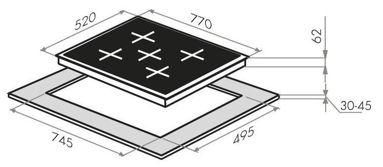 Электрическая варочная панель Maunfeld EVCE.775.SM.T-BK