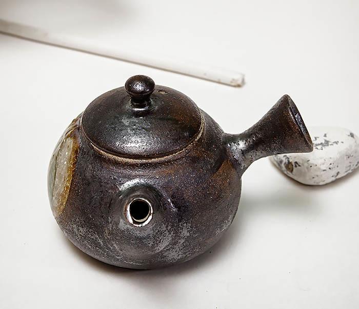 POT102 Чайник ручной работы в японском стиле («Kюсу») фото 04