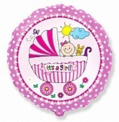 Коляска для девочки - круг