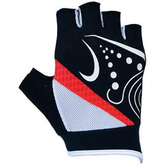 Велоперчатки JAFFSON SCG 47-0118 (чёрный/белый/красный)