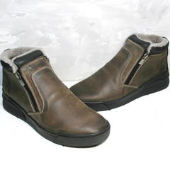Коричневые полуботинки мужские Rifellini Rovigo 046 Brown Black