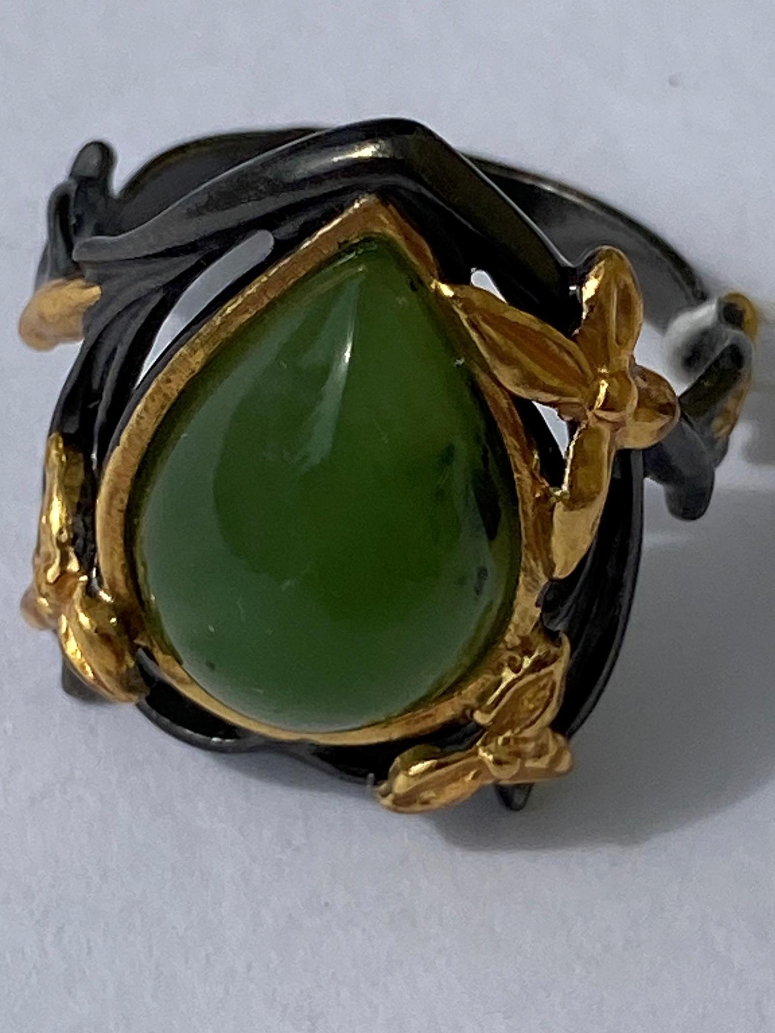 Вуокса-нефрит(кольцо из серебра)