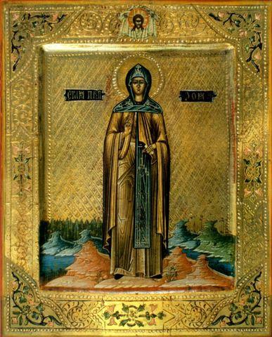 Икона святой преподобной Зои Вифлеемской на дереве на левкасе мастерская Иконный Дом