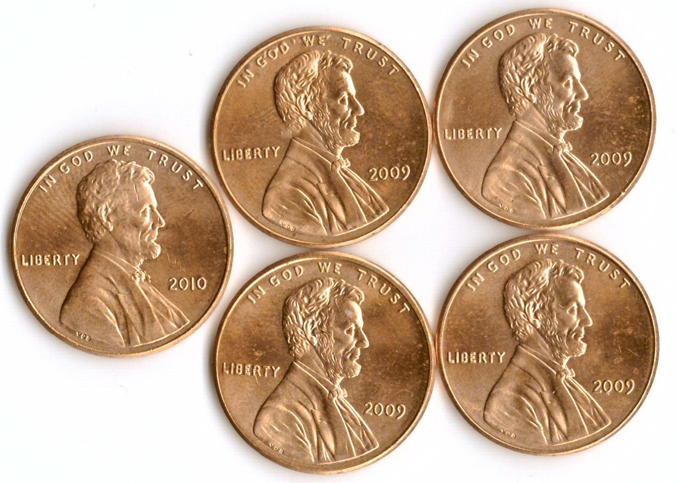 Набор монет по 1 центу
