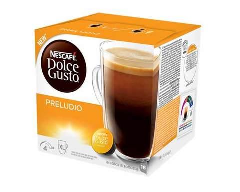 Кофе в капсулах Dolce Gusto Preludio, 16 капсул