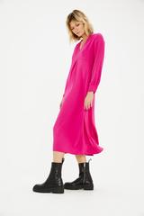 Платье-миди с V-образным вырезом