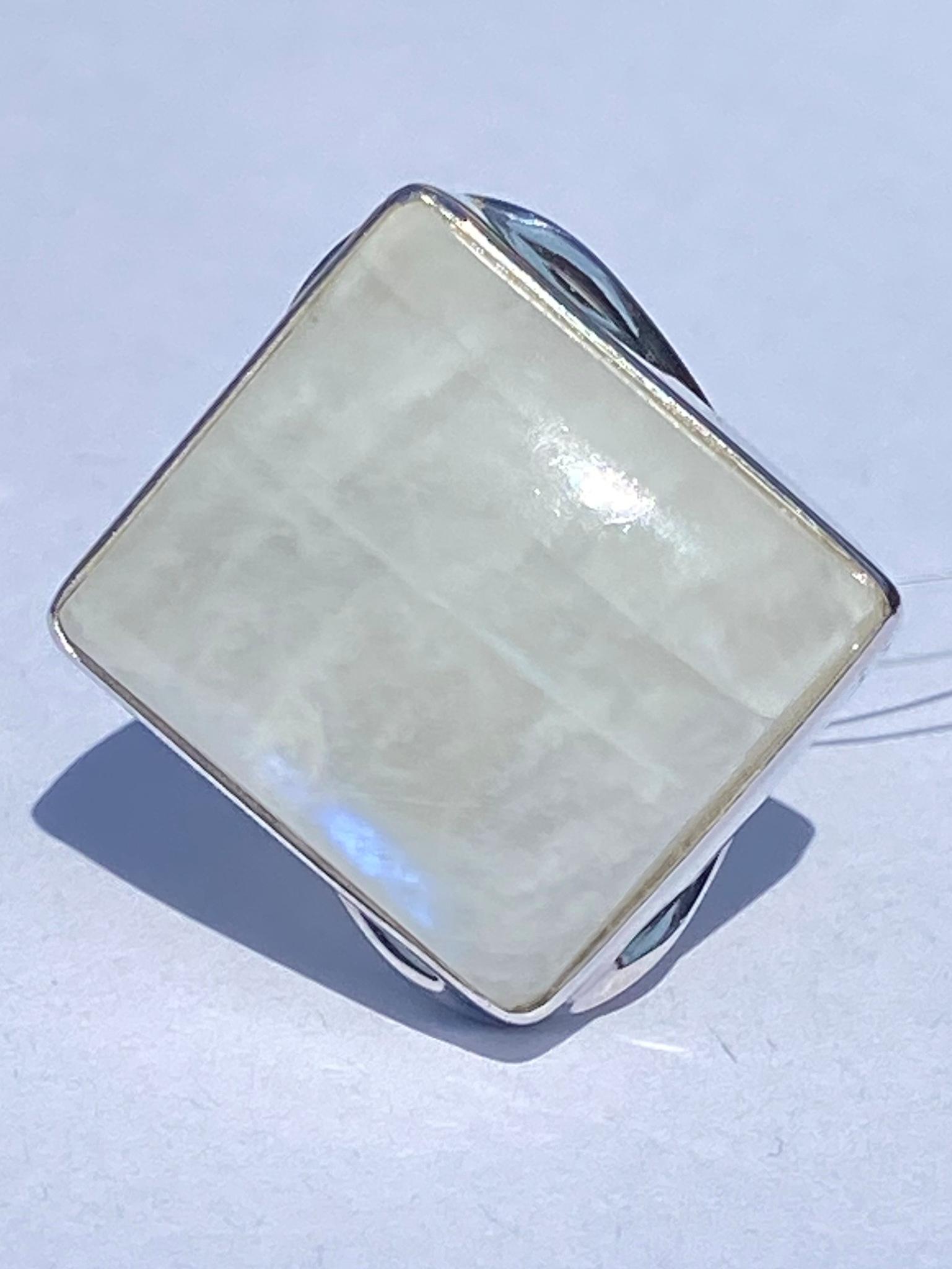 Ортоклаз-ромб(кольцо из серебра)
